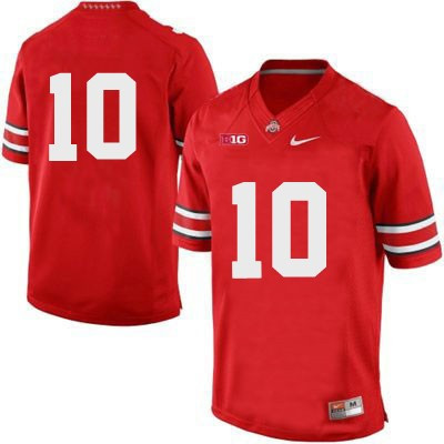Men's Nike  #10 Replica Red Ohio State Buckeyes Alumni Football Jersey (Troy Smith)