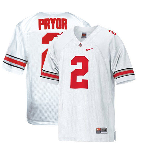Men's Nike  #2 Authentic White Jersey (Terrelle Pryor)