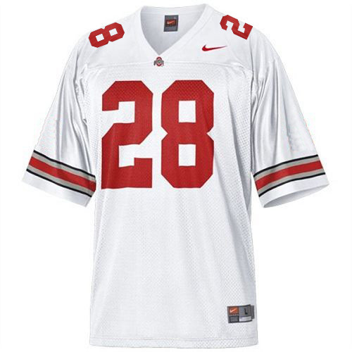 Youth Nike  #28 White Replica Jersey (Dominic Clarke)