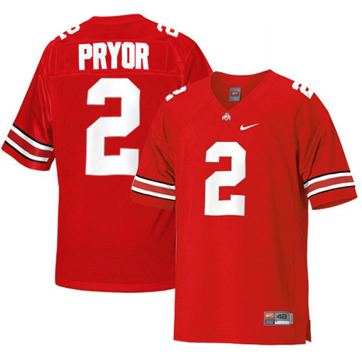 Youth Nike  #2 Replica Red Jersey (Terrelle Pryor)