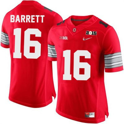 Youth Nike Ohio State Buckeyes NO. 16 Replica Red Diamond Quest 2015 Patch Football Jersey